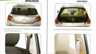Repeat youtube video เปรียบเทียบ Eco-Car 3 รุ่น MIRAGE-MARCH-Brio [Thai image slide]