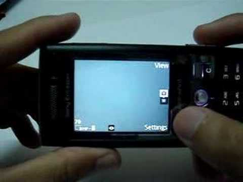 Sony Ericsson K800i demo/run through.