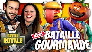 LE MODE BATAILLE GOURMANDE EST DE RETOUR (BURGER VS TOMATE) ! | FORTNITE DUO FR