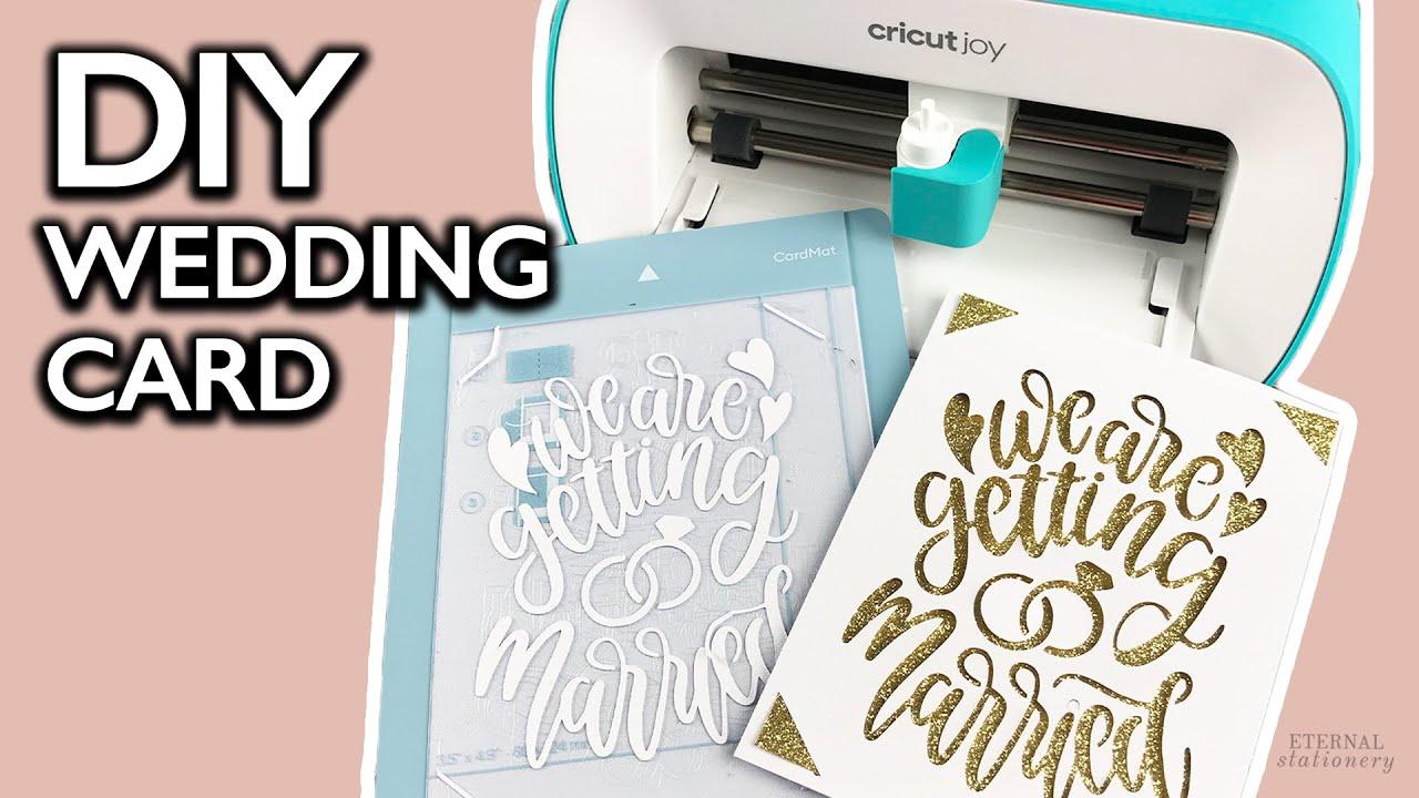 Cricut Joy Wedding Card Diy Wedding Invitations On A Budget Youtube