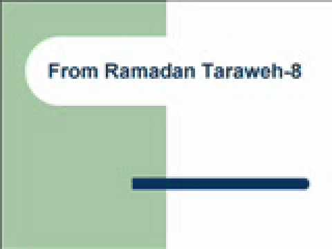From Ramadan Taraweh-8تراويح رمضان