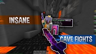 Insane Cave Fights! ll Hypixel Solo UHC Highlights