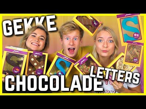 GEKKE CHOCOLADELETTER SMAKEN van JAMIN raden !