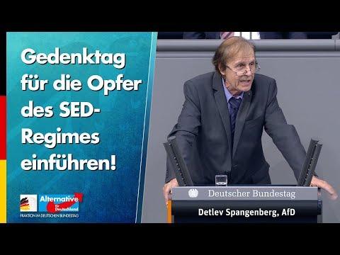 Gedenktag für die Opfer des SED-Regimes einführen! - Detlev Spangenberg - AfD-Fraktion