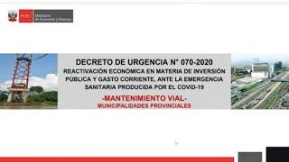 DGPP: Plan de mantenimiento de vías como parte del programa Arranca Perú