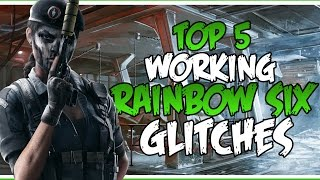 5 WORKING RAINBOW SIX GLITCHES | Rainbow Six Siege Glitches