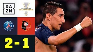 Angel Di Maria schießt PSG zum Supercup-Erfolg: PSG - Rennes 2:1   Trophee des Champions   DAZN