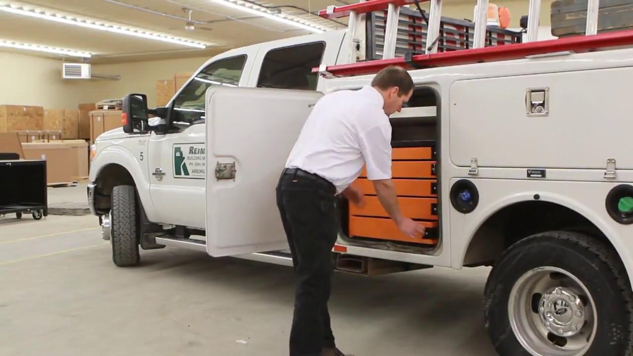 Service Truck Tool Box >> Swivel Pro 34 Service Truck Box Toolbox French
