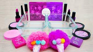 Pink vs Purple Mixing Makeup Slime ASMR 16 Satisfying Slime Video