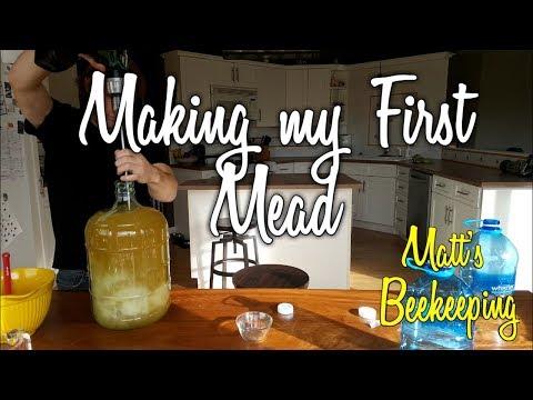 Making my First Mead - Part One - Matt's Vlog #49
