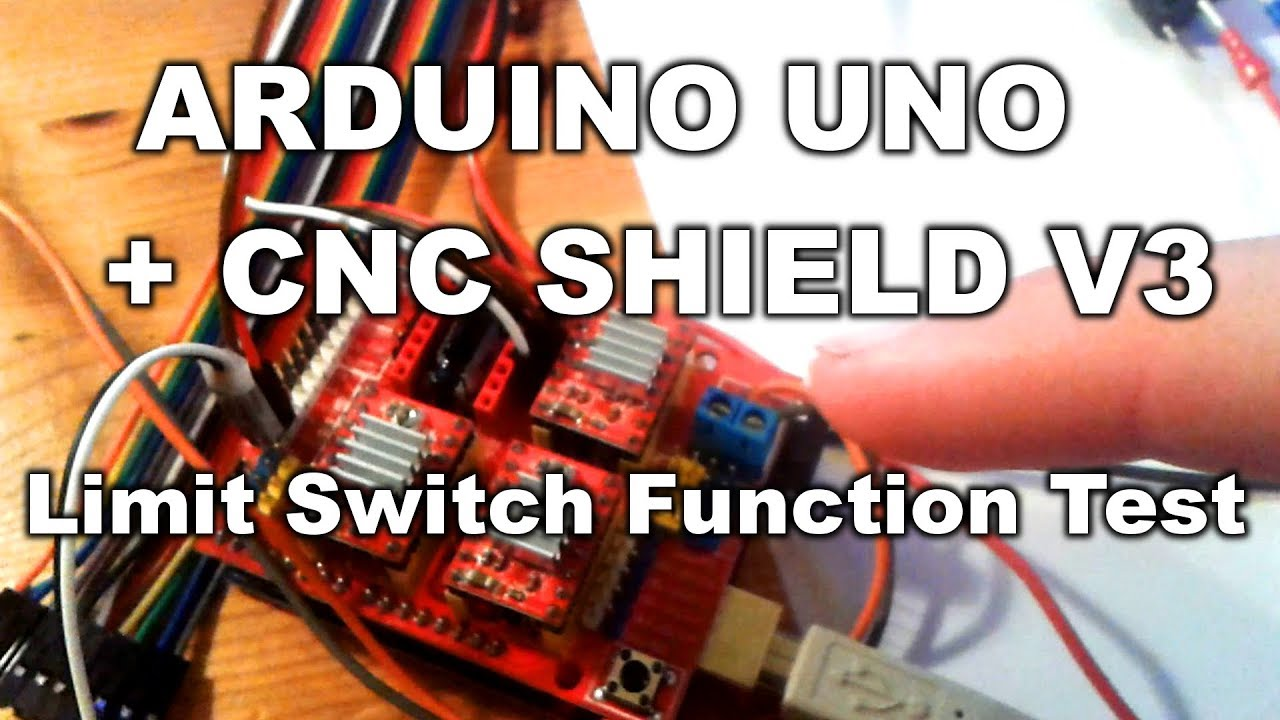 Z-Limit Switches Test | Arduino UNO + CNC Shield V3 + Grbl v0 8c