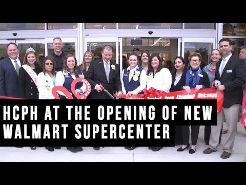 HCPH at the opening of new Walmart Tomball, TX