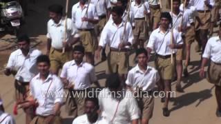 RSS (Rashtriya Swayamsevak Sangh) of India wears trademark brown shorts
