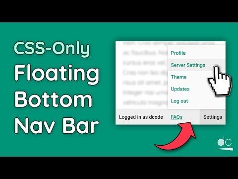 Floating Bottom Navigation Bar Tutorial - HTML & CSS Only (Web Design) thumbnail