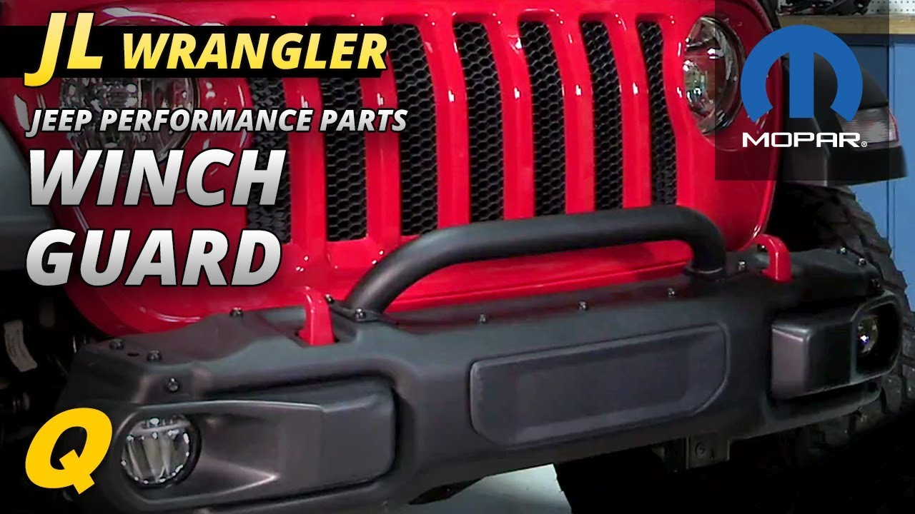 Mopar Winch Guard For Jeep Wrangler Jl With Rubicon Steel Front Wiring Bumper