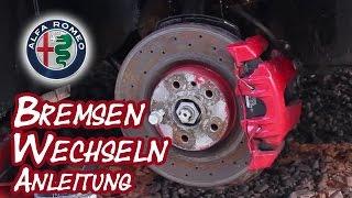 Alfa Romeo 156   Bremsbeläge wechseln Anleitung Tutorial
