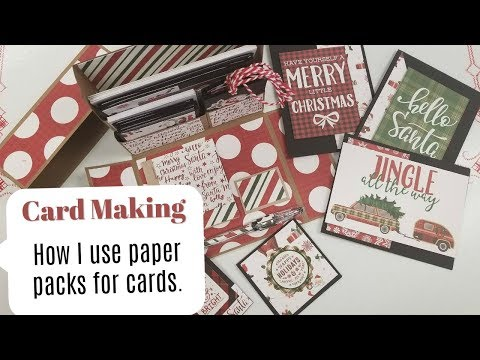 Card Making Using Paper Pads to Make Cards, Notecards and Tags