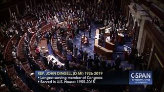 Moment of Silence for John Dingell (C-SPAN)