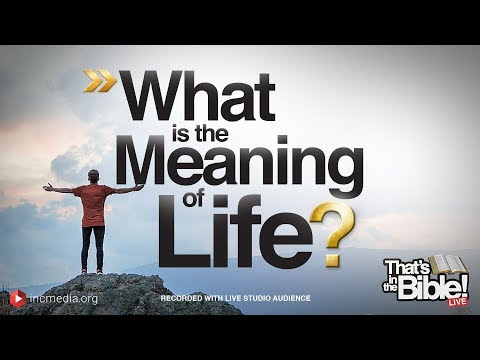 What Is the Meaning of Life? | That's in the Bible