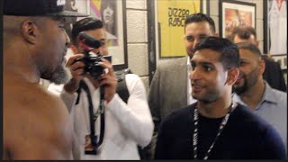 LETS GO KHAN!! SHANNON BRIGGS MEETS AMIR KHAN & TELLS HIM HE WILL KNOCK DAVID HAYE OUT COLD!