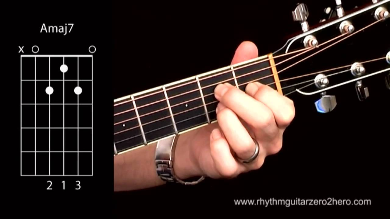 Learn Guitar Chords A Major 7 Beginner Acoustic Guitar Lessons