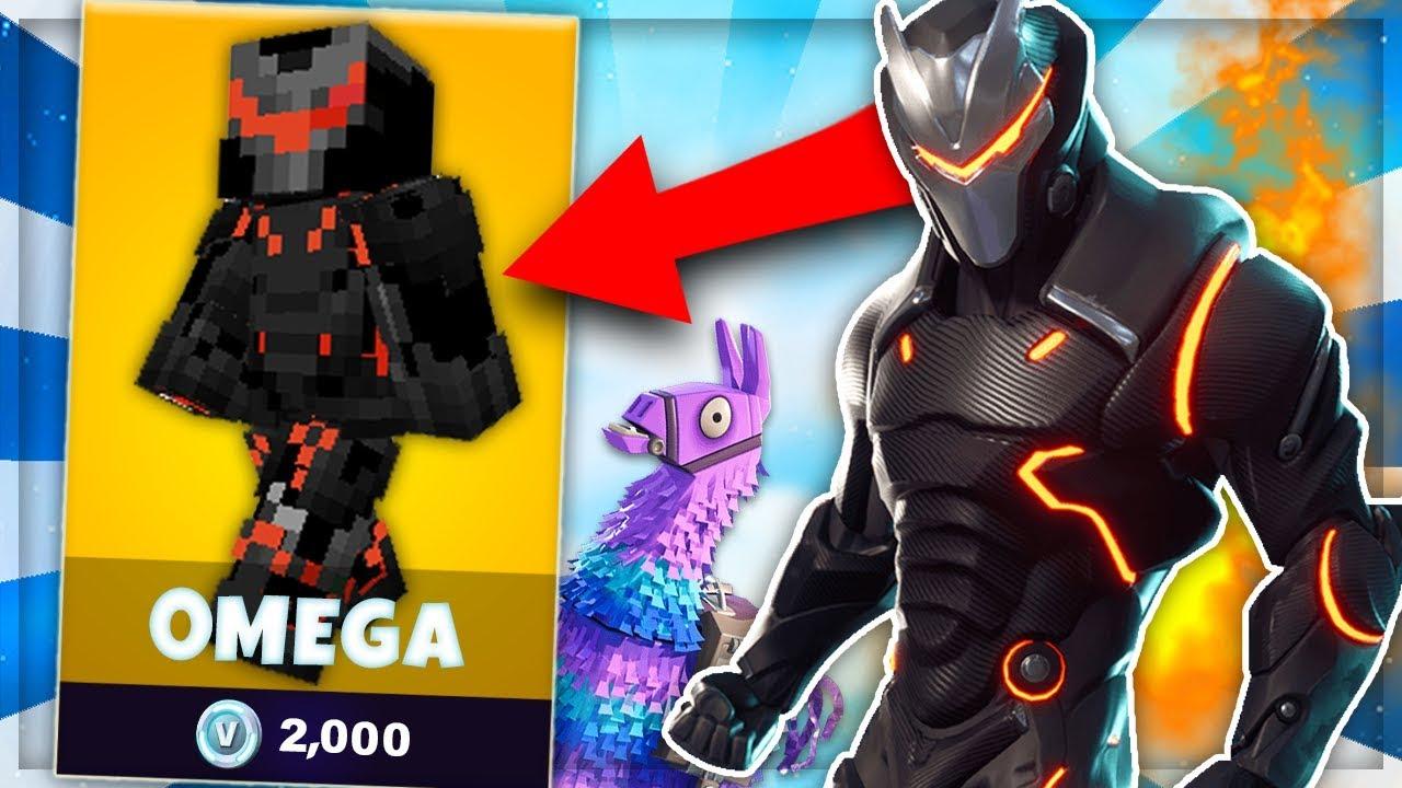 Skin Omega De Fortnite Dans Minecraft Skywars Youtube
