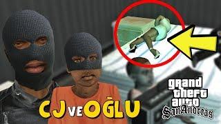 CJ VE OĞLU HIRSIZ OLUP EVLERİ SOYDU! GTA SAN ANDREAS