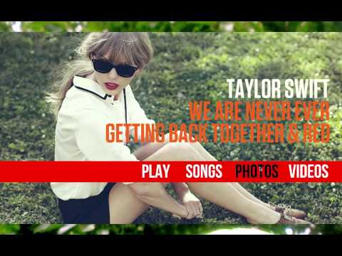 ITunes LP - We Are Never Ever Getting Back Together & Red - EP: Taylor Swift (Fan Made) - Remake