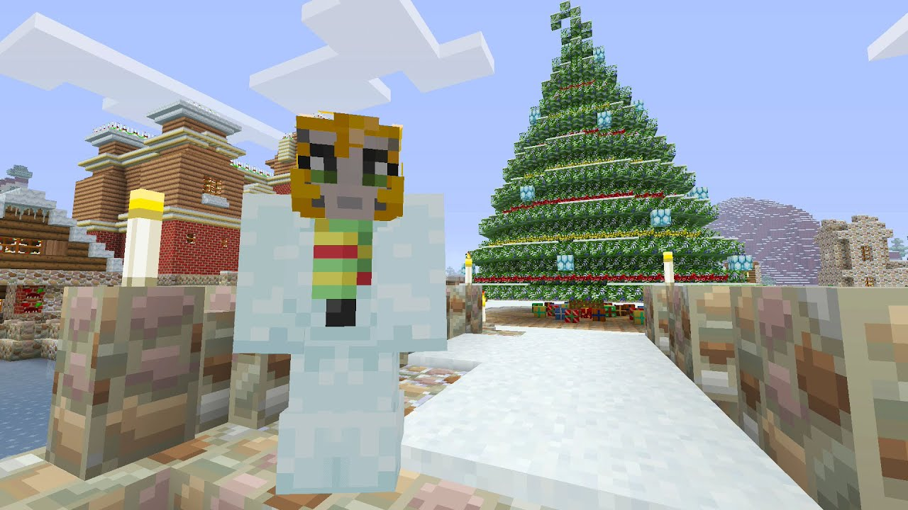 Christmas Minecraft World.Minecraft Xbox Festive World Music Disc Hunt Part 1