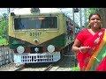 UP sealdah to Krishnanagar local train entering Kalyani Railway Station
