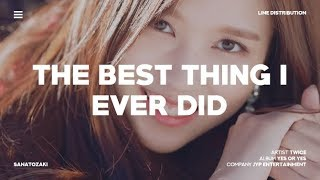 TWICE - The Best Thing I Ever Did (올해 제일 잘한 일) | Line Distribution