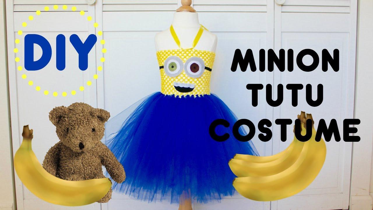 diy minion tutu costume halloween costume tutorial youtube
