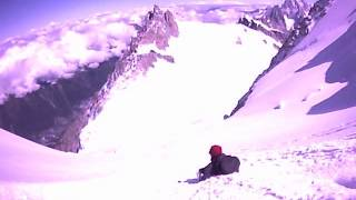 Descending Mont Blanc du Tacul the quick way