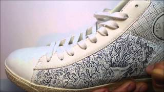 Drawing on my left shoe. Time lapse drawng video with original music.