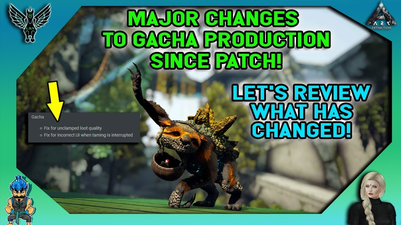ARK: MAJOR CHANGES TO GACHA PRODUCTION SINCE PATCH - TESTING WHAT DOES AND  DOES NOT WORK!