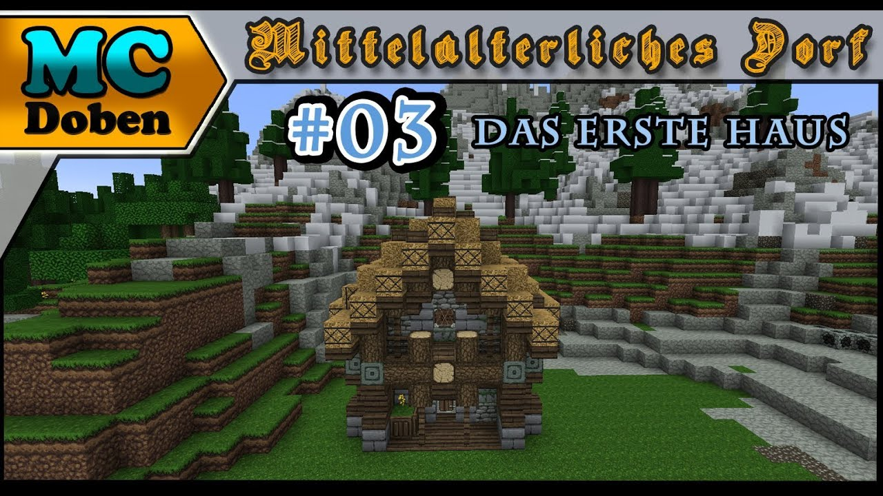 Minecraft Mittelalter Tutorial Lets Build - Minecraft hauser grob