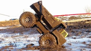 RC ADVENTURES - Mega Muddy Tonka Dump Truck Stomping Grounds