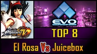 KOF XIV - EVO 2016 - El Rosa Vs Juicebox - TOP 8 Losers Bracket