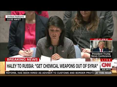 Nikki Haley Blasts Assad Regime & Russia For Killing Civilians in Syria