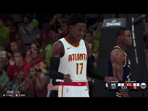 NBA 2K18 PC   Indiana Pacers & Atlanta Hawks   4K w/Mods   Asus 1080 Ti