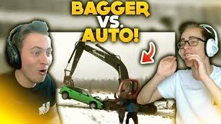 BAGGER 🚧 vs AUTO 🚗!  | WTF Videos