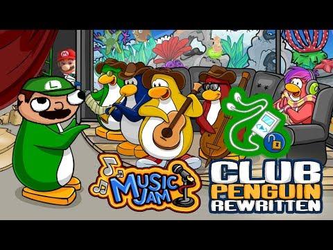 Luigi Plays : CLUB PENGUIN REWRITTEN MUSIC JAMMM + CODE