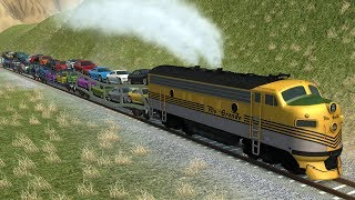 Stressed Out #10 With Trains - BeamNG Drive Crashes