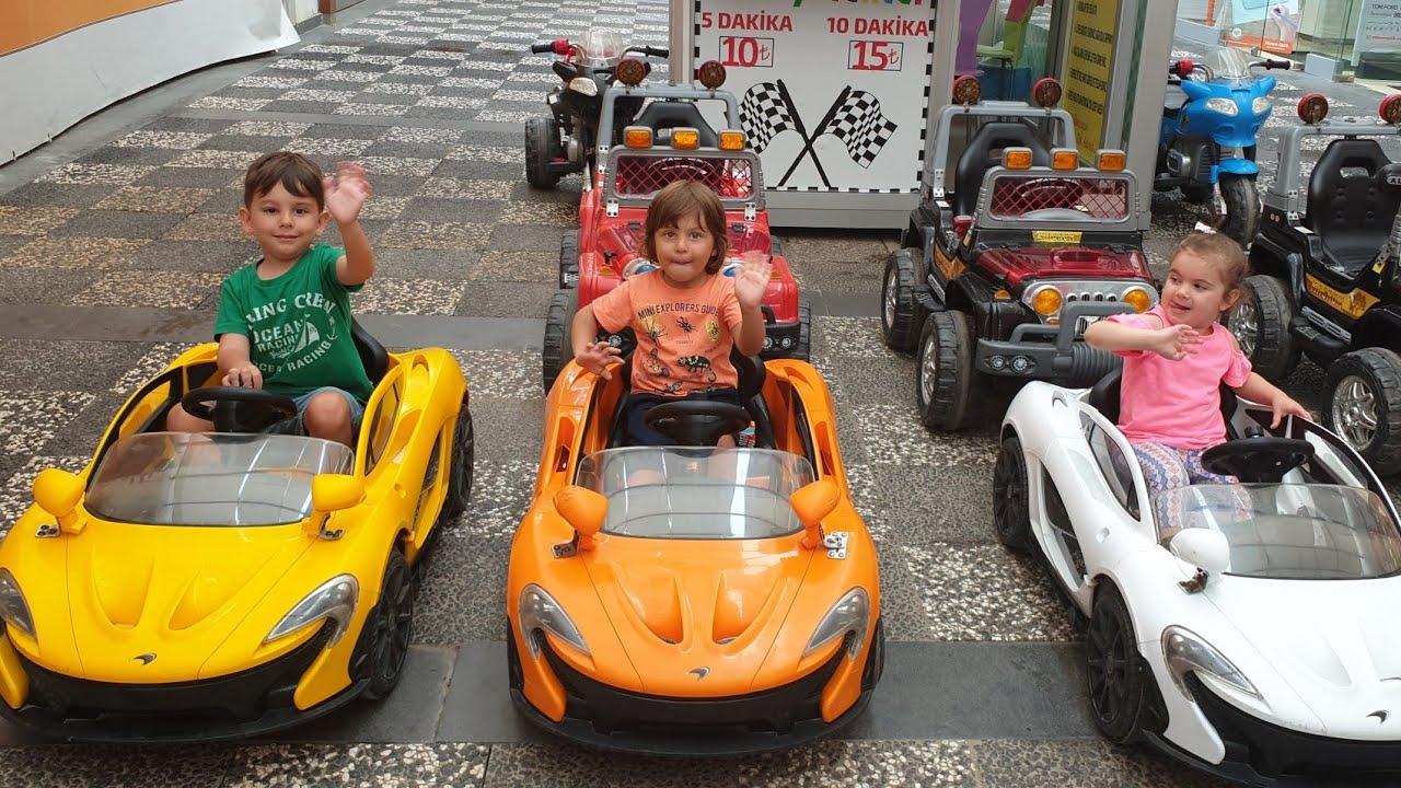 Fatih Selim Elâ ve Yusuf Mclaren marka akülü arabaya biniyor 3tane akülü araba seçtik renkler harika