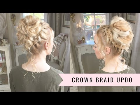 The Crown Braid Prom Updo Hairstyle