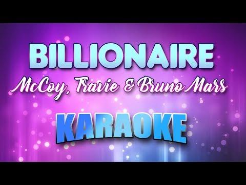 McCoy, Travie & Bruno Mars - Billionaire (Karaoke version with Lyrics)