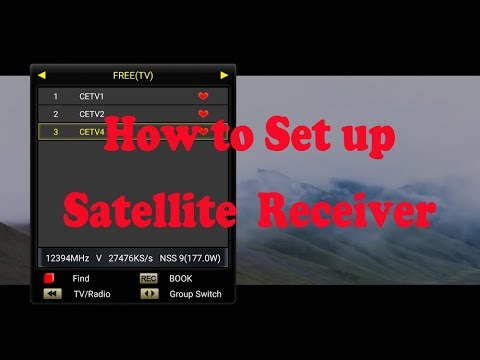 How to set up your c300 c400 plus hybird android FTA satellite receiver S/S2