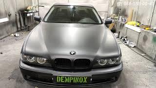 BMW 5 (антрацит) покраска авто композитным покрытием Dempinox