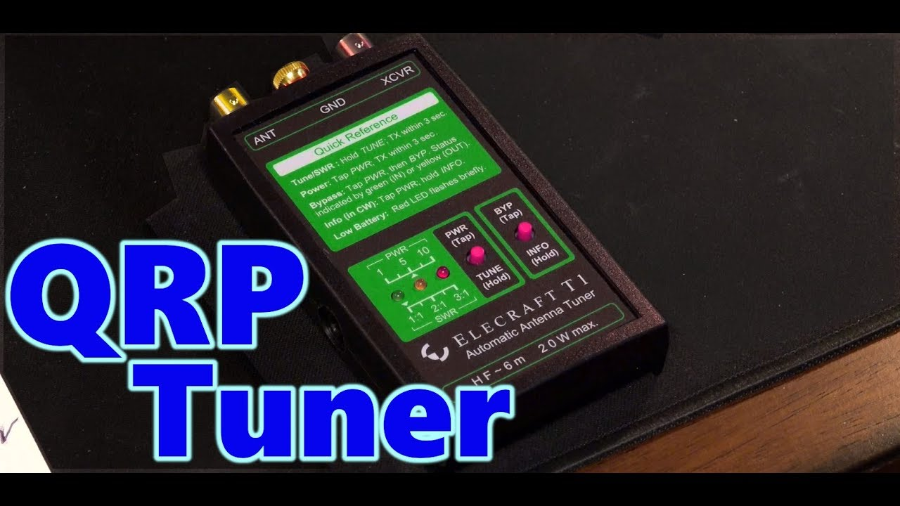 UnBox Elecraft T1 Portable QRP Auto Antenna Tuner & Success Test