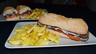 Pork Loin, Green Pepper & Serrano Ham Sandwich - Easy